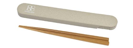 竹箸 箸箱セット WH
